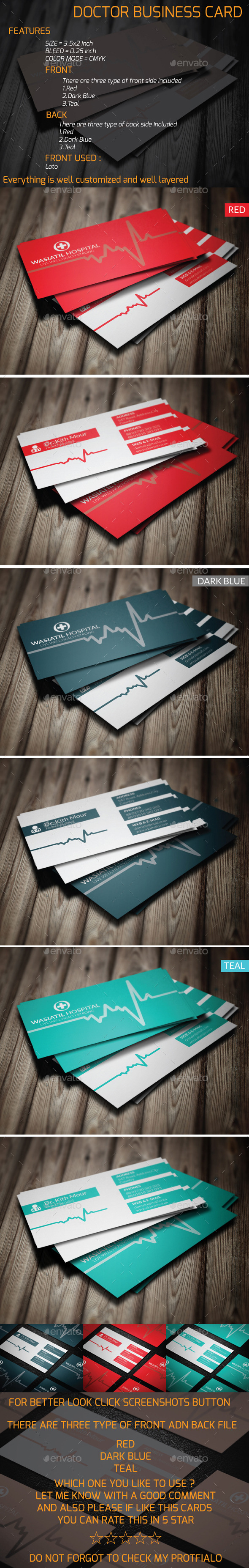 GraphicRiver Doctor Business Card 9848067