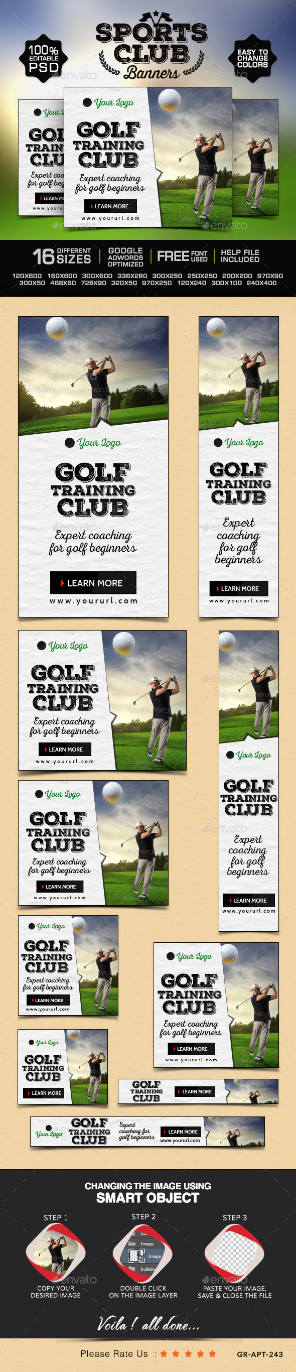 GraphicRiver Golf Club Banners 9848075