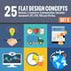 25 Flat Design Concepts Set 2 - GraphicRiver Item for Sale