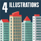 Cityscape - Abstract Buildings in Flat Style - GraphicRiver Item for Sale