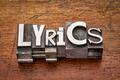 lyrics word in metal type - PhotoDune Item for Sale