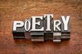 poetry word in metal type - PhotoDune Item for Sale