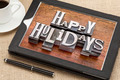 Happy Holidays typography - PhotoDune Item for Sale
