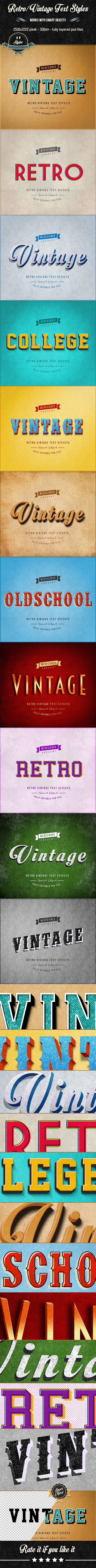 GraphicRiver Retro Vintage Text Effects V.1 9807189
