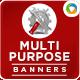 Multi Purpose Banners - 4 Colors - GraphicRiver Item for Sale