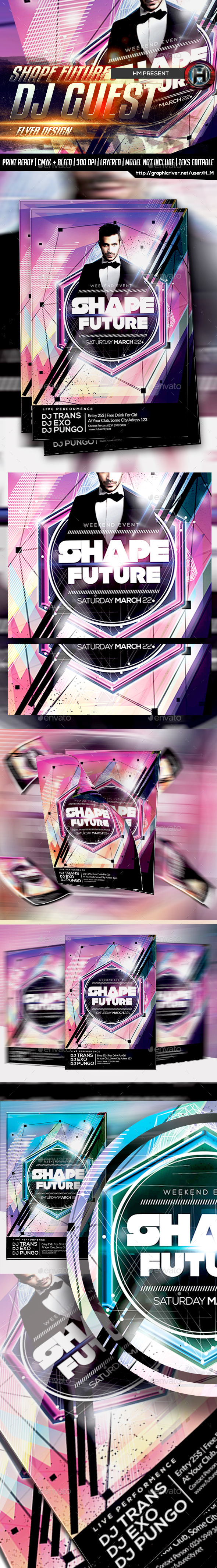GraphicRiver Shape Future Guest Dj Flyer 9848195