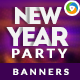 New Year Count Down Banners - GraphicRiver Item for Sale