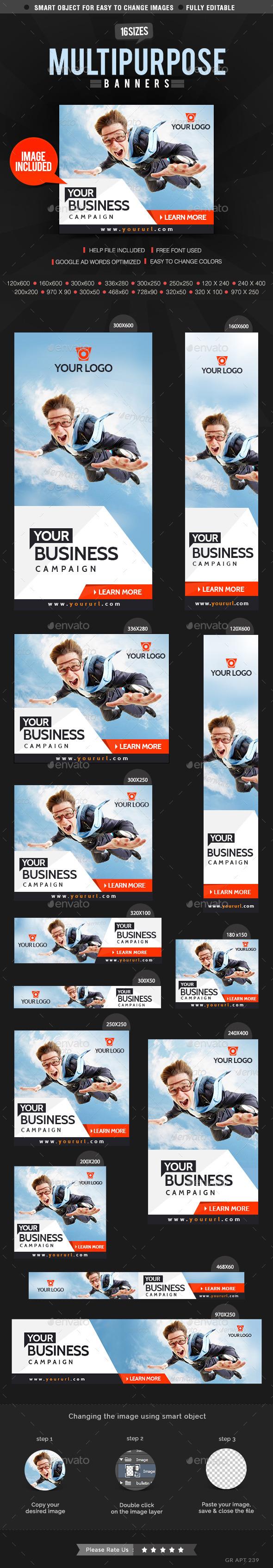 GraphicRiver Multipurpose Corporate Banners 9848274