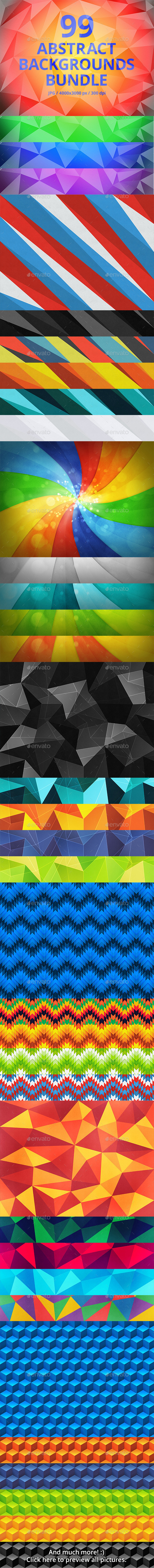 GraphicRiver 99 Abstract Backgrounds Bundle 9848301
