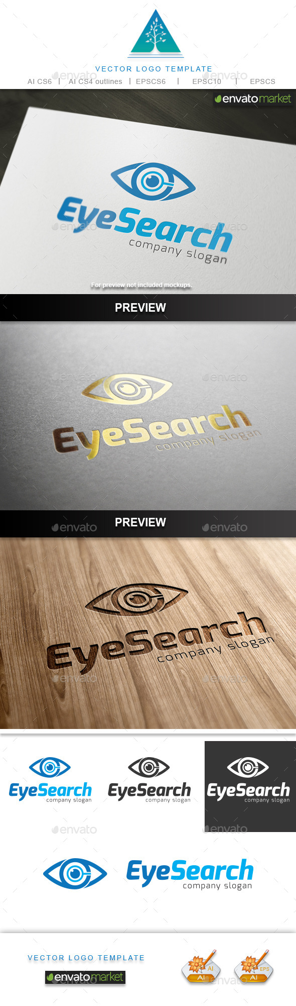 GraphicRiver Eye Search Logo 9848488