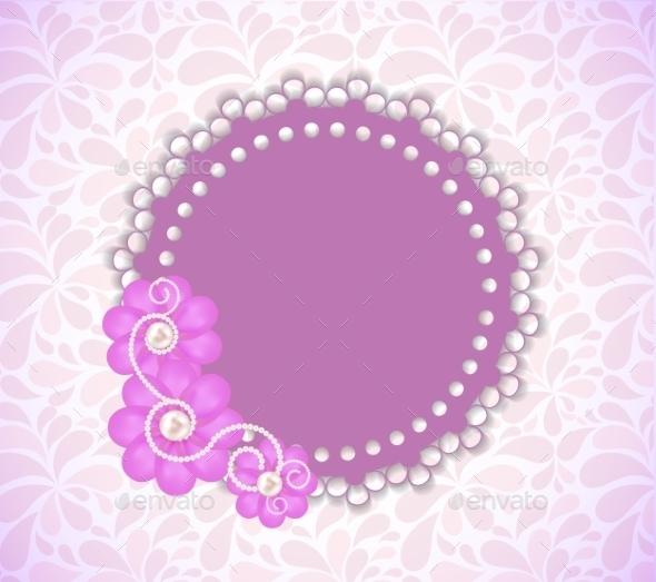 GraphicRiver Romantic Flower Frame Background 9848489