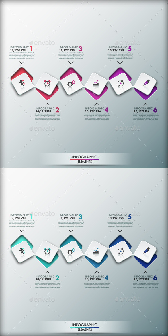GraphicRiver Modern Infographic Timeline Template 2 Colors 9848537