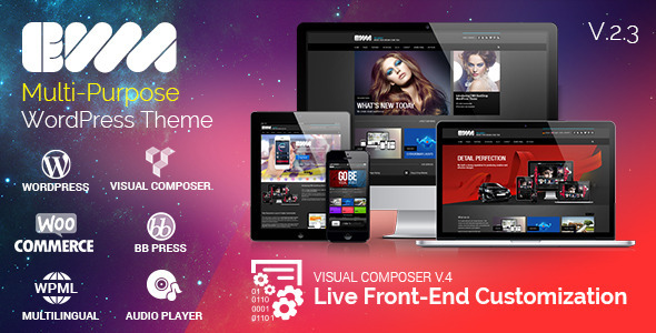 EWA - Bootstrap Multi-Purpose Wordpress Theme - Corporate WordPress