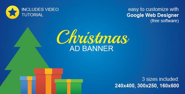 CodeCanyon HTML5 Christmas Ad Banner 9820080