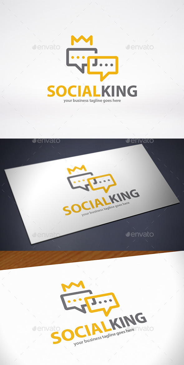 GraphicRiver King Chat Logo Template 9848670