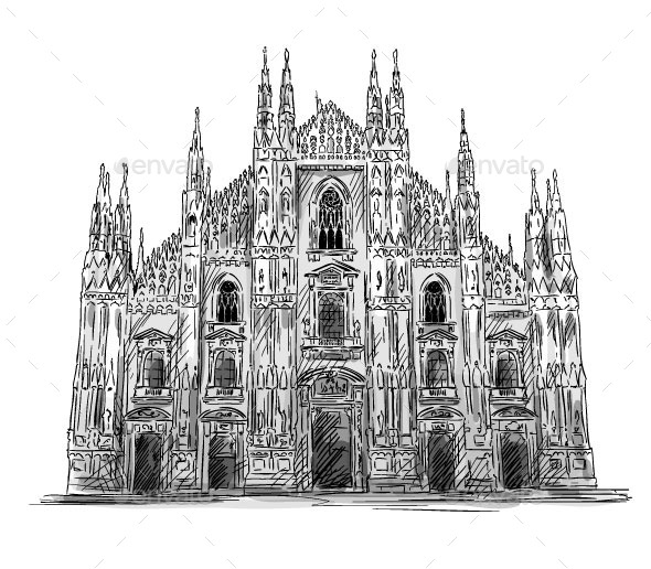 GraphicRiver Milan Cathedral 9848723