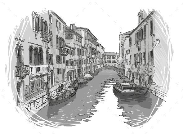 GraphicRiver Venice Canal 9848731