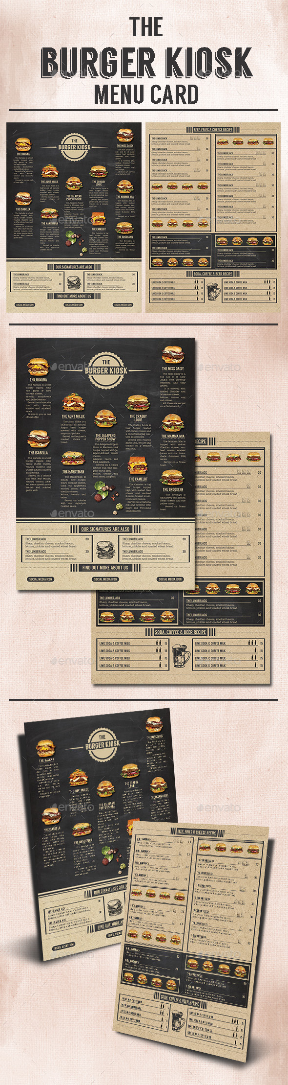 GraphicRiver The Burger Kiosk Menu 9813340
