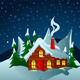 Little House in Snowy Hills - GraphicRiver Item for Sale