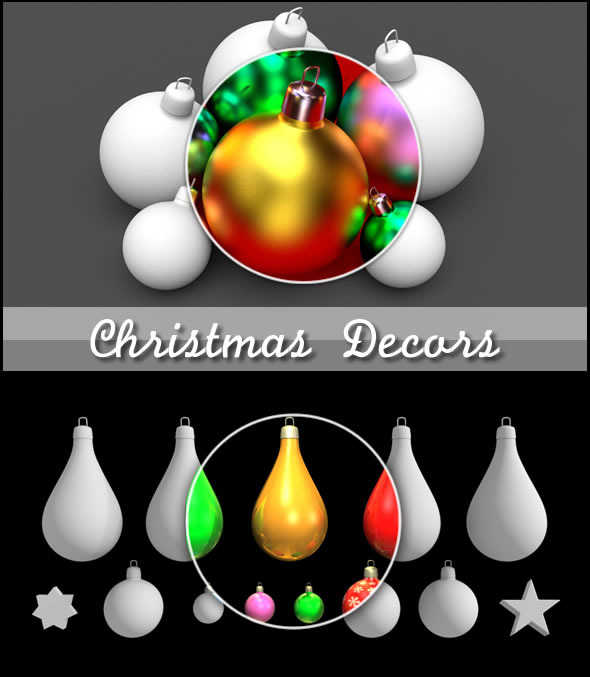Christmas Decors Balls and Stars