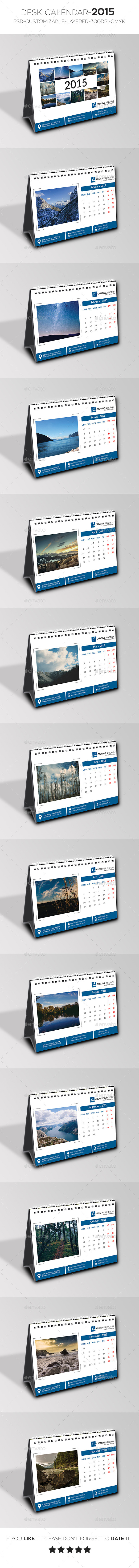 GraphicRiver Desk Calendar 2015 9848911