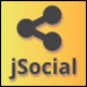 jSocial - Responsive Floating Social Sharing Bar