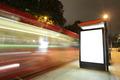 Blank billboard in bus stop - PhotoDune Item for Sale