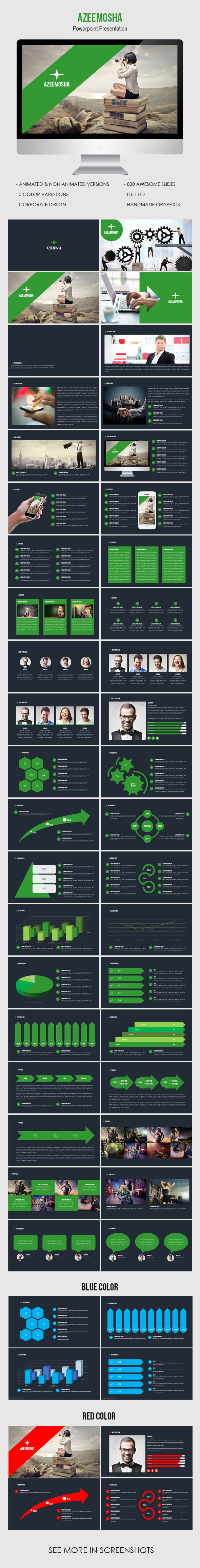 GraphicRiver Azeemosha Powerpoint Presentation Template 9807078