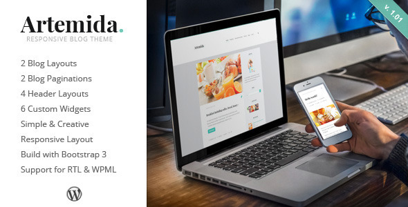 Artemida Responsive Blog WordPress Theme