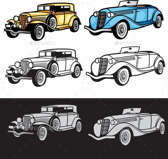 GraphicRiver Classic Car 9849171