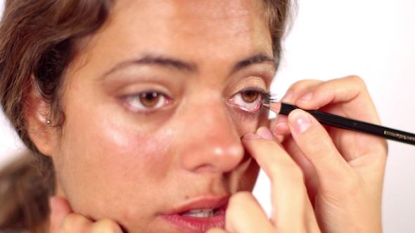 Beautiful Model Face Makeup Shooting