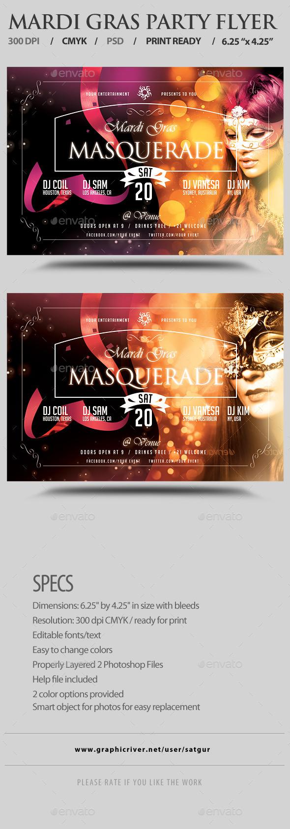 GraphicRiver Mardi Gras Carnival Flyer Template PSD V4 9849307