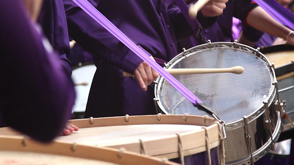 Calanda Drummers During Easter Spanish Tradition 2
