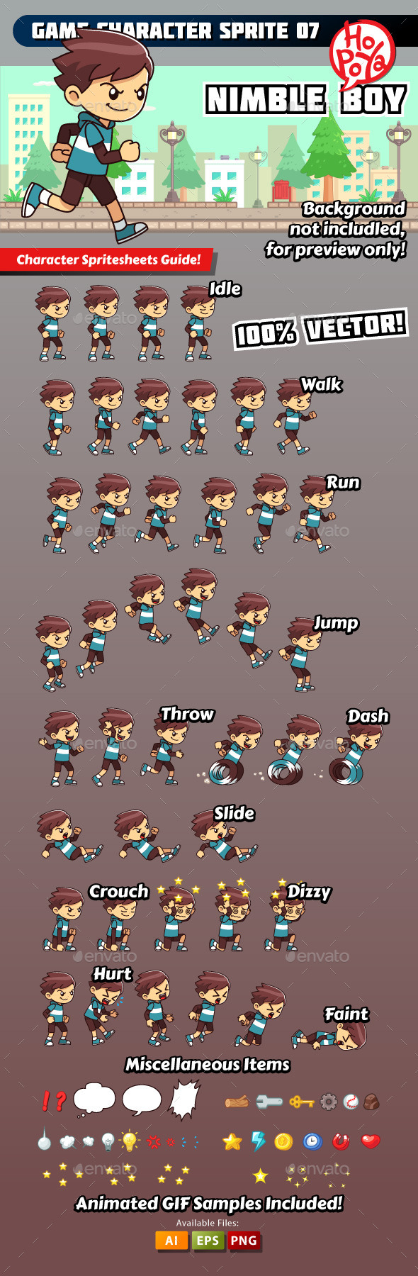 GraphicRiver Game Character Sprite 07 9814759