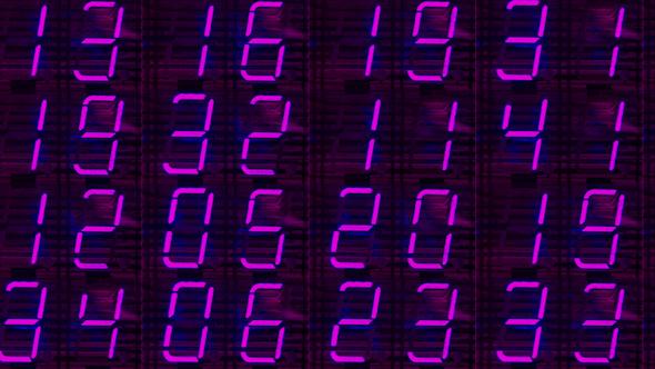 Digital Numbers Led Clock Counter 2