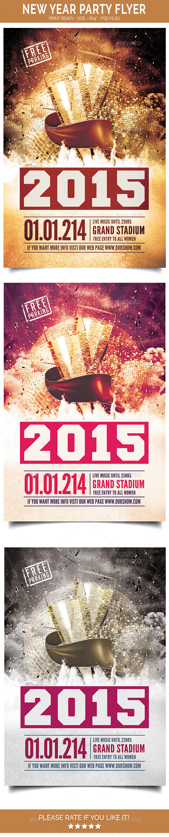GraphicRiver New Year Party Flyer 9819799