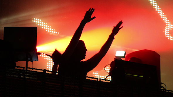 Dj Playing Music Festival Led Screen
