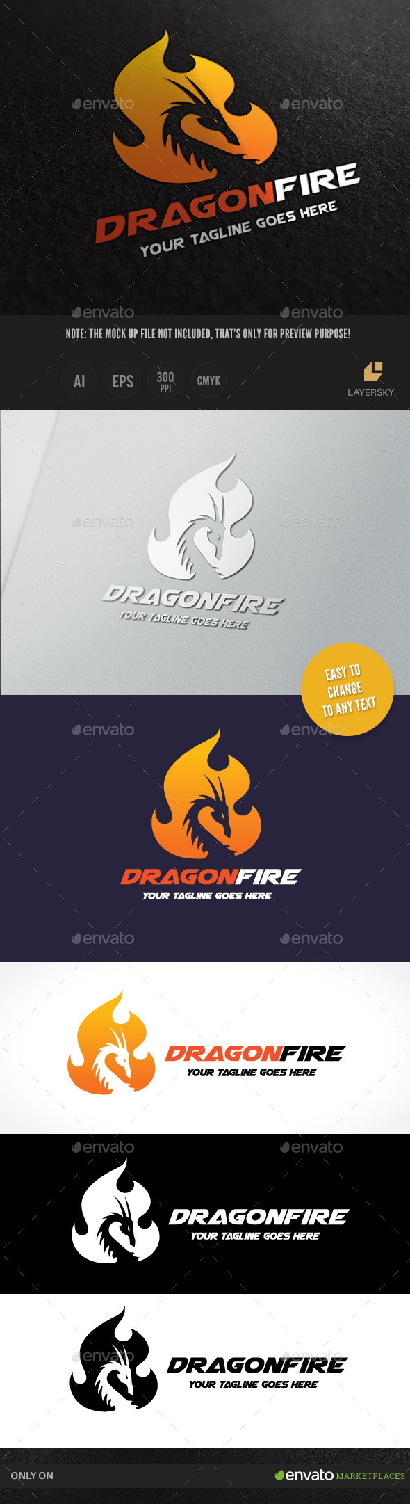 GraphicRiver Dragon Fire 9849559