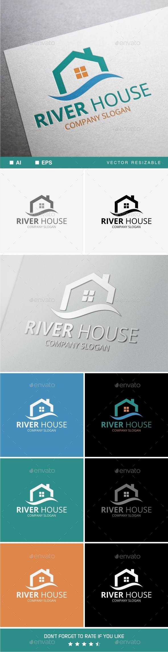 GraphicRiver River House Logo 9849562