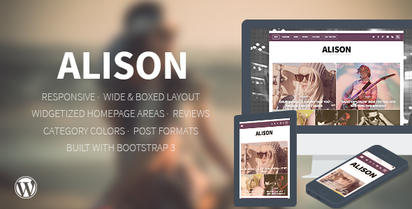Alison - Responsive WordPress News Theme - Blog / Magazine WordPress