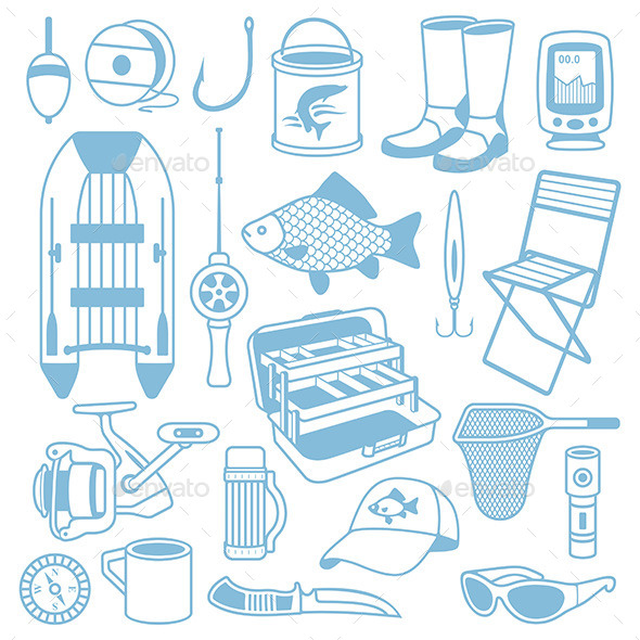 GraphicRiver Fishing Seamless Pattern 9849972