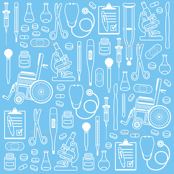 GraphicRiver Medical Seamless Pattern 9850027