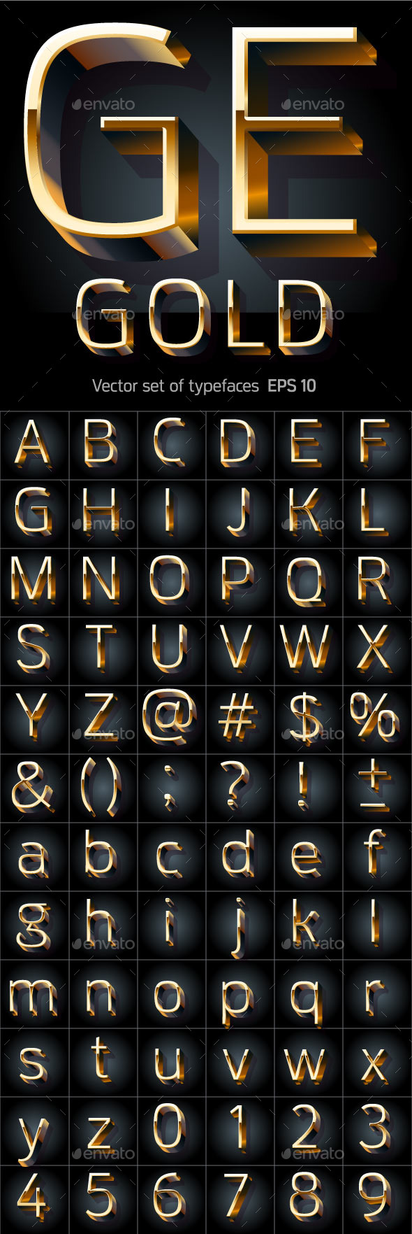 GraphicRiver Golden Alphabet 9850068