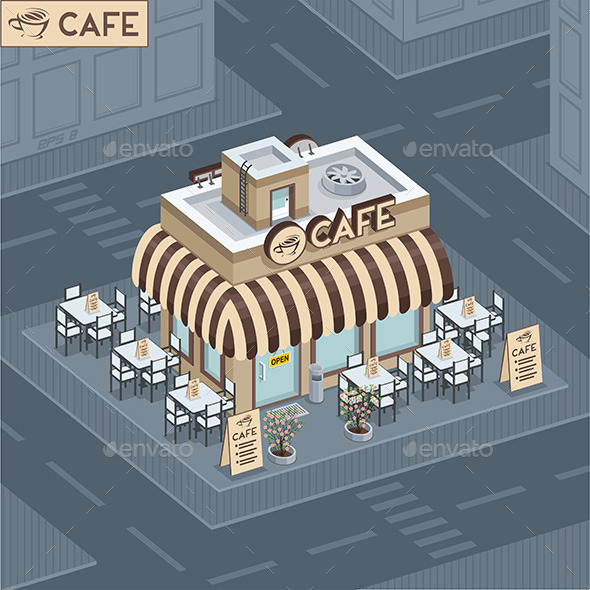 GraphicRiver Facade Coffee Shop 9850231