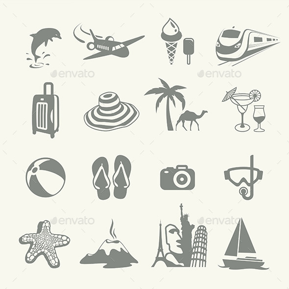 GraphicRiver Summer Icons 9850236
