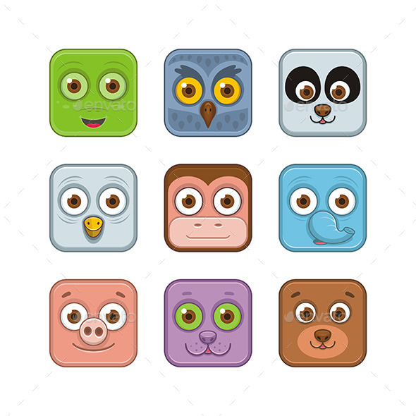 GraphicRiver Animal Icons 9850322