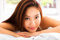 young Beautiful asian woman relaxing on the bed with sunlight ba - PhotoDune Item for Sale