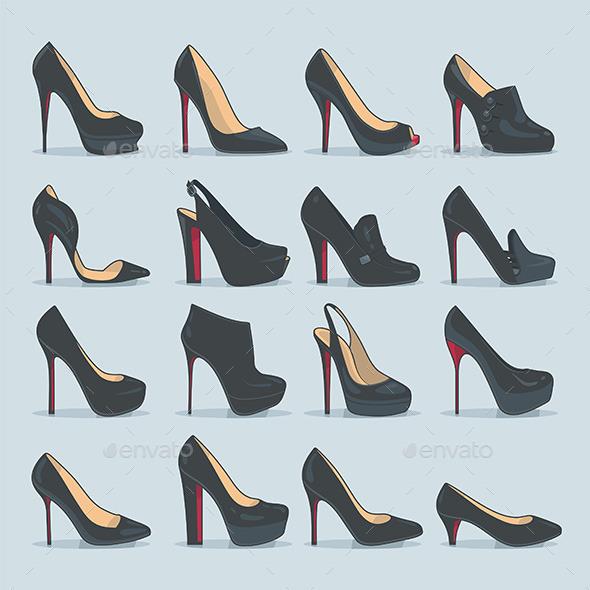 GraphicRiver Shoes Set 9850580