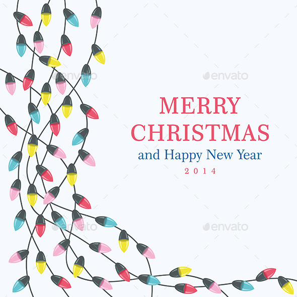 GraphicRiver Christmas Lights Background 9850897