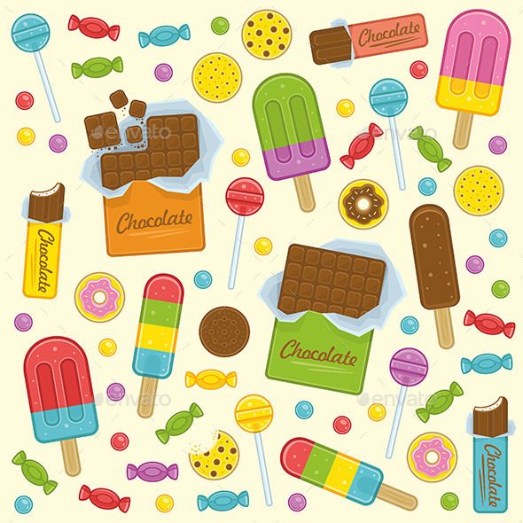 GraphicRiver Sweet Seamless Background 9850906